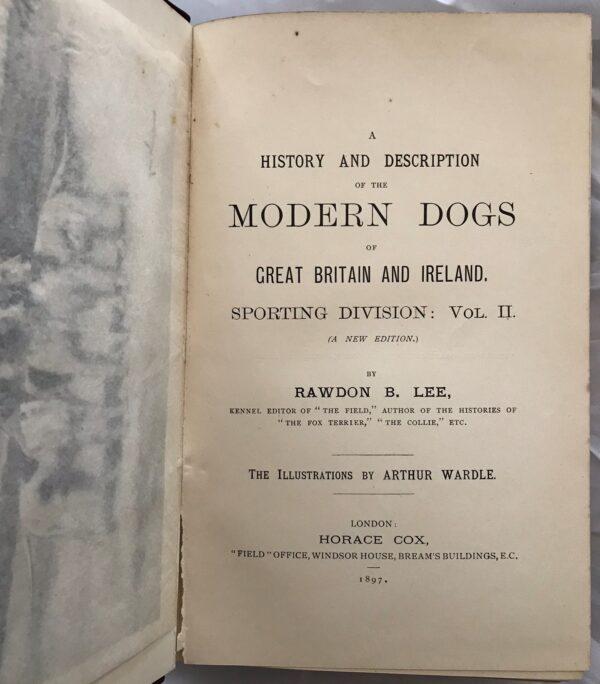 Modern Dogs (sporting Division) Vol. II by Rawdon B. Lee.
